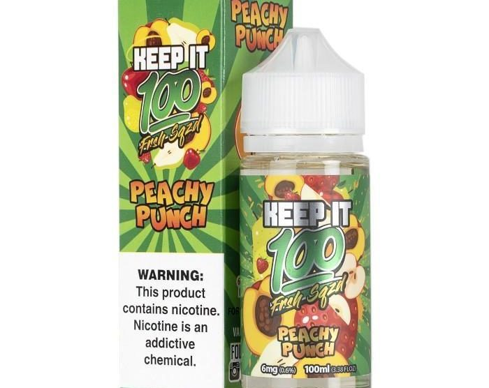 Peachy Punch Ejuice by Keep It 100 Review